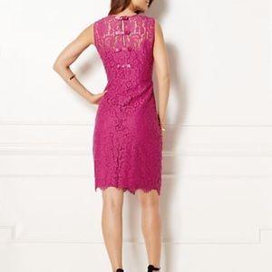 Eva Mendes Lace Sheath Dress Back Bow 2 XS